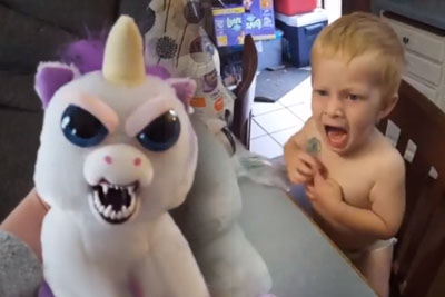 Child Gets A New Scary Toy, Burst In Tears Of Fear After Seeing It