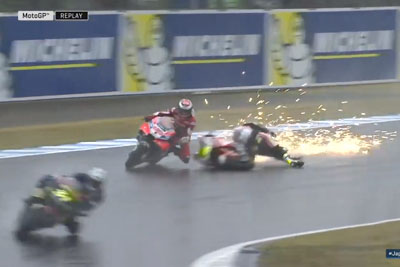 WATCH: Cal Crutchlow Takes Down Jorge Lorenzo On GP Japan Free Practice