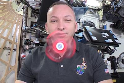 Fidget Spinner Spinning In Space