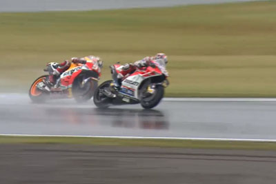 Motegi Drama In Last Lap, Dovizioso Battles For First Place With Marquez