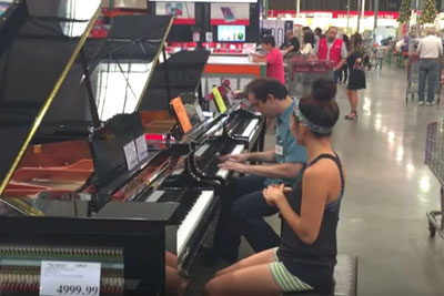 She Overhears Costco Worker Playing Adele, Stuns Shoppers By Joining For Duet