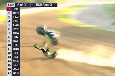 Leon Haslam Crashes Hard On Superbike Race At 170 Mph, Luckly Survives The Accident