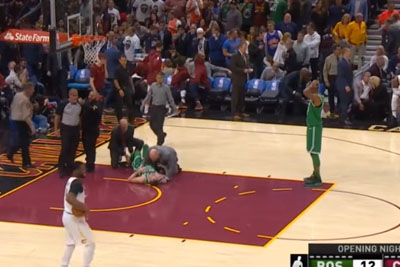 NBA Player Gordon Hayward Breaks His Ankle In Shocking Way