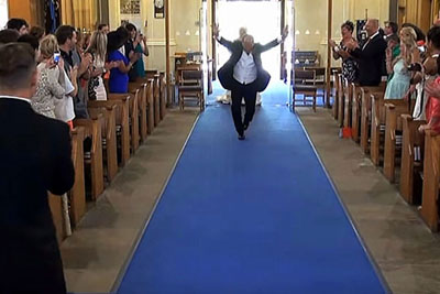 It's Time For The Bride To Make Her Entrance, But Keep Your Eyes On Her Dad