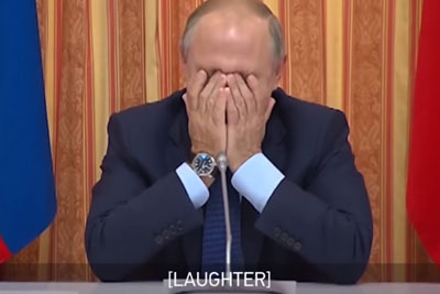Putin Laughs At His Minister For Suggesting To Export Pork To Muslim Countries