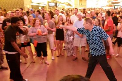 Grandpa Challenges 2 Young Men To Dance Off, Crowd Explodes In Laughter