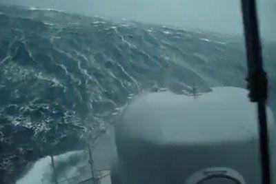 Tako razburkano je morje, v katerem je te dni izginila argentinska podmornica