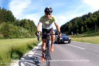 ŠOK: To so grozljive prigode, ki jih na naših cestah doživljajo kolesarji