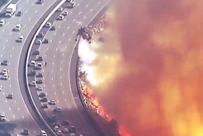 To so grozljivi posnetki iz Kalifornije, ognjeni zublji goltajo mesta