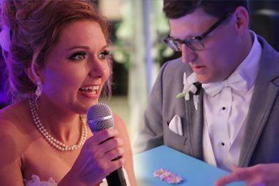 VIDEO: Nevesta med poroko do solz ganila ženina! Poglejte, kaj mu je podarila...