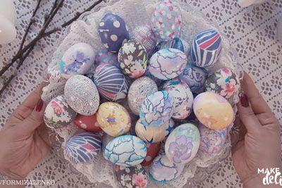 VIDEO: Slovenka navdušila s postopkom, kako pobarvati velikonočna jajca s svilo