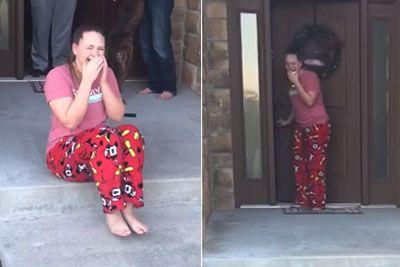 VIDEO: Starša sta jo ganila do solz! To je presenečenje, ki mu je bila priča hčerka