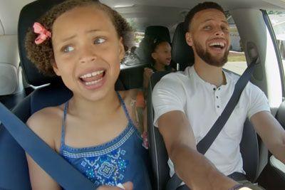 Stephen Curry skupaj s hčerkama zapel pesem, prizor je posnel na kamero
