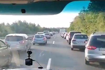 Vožnja gasilcev na primorki: Tako so se prebijali skozi 10-kilometrski zastoj!
