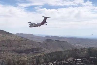 VIDEO: Grozljivka med gašenjem požara, letalo bi skoraj treščilo ob tla