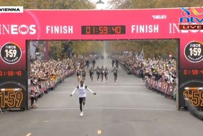 Eliud Kipchoge postal prvi človek, ki je maraton pretekel v manj kot 2 urah