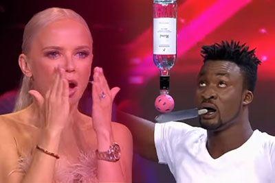 Na hrvaškem talentu sodnike pustil v šoku: Poglej, kaj je na odru počel z nožem!