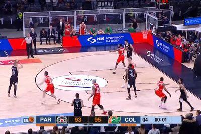VIDEO: Šok za Olimpijo: Partizan v sekundi zadel trojko za zmago!