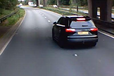 Voznik tovornjaka zgrožen: To je na avtocesti počel idiot pred mano!