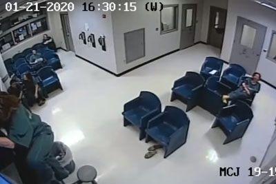 Ženska je skušala pobegniti iz zapora: Komedijo so posnele varnostne kamere!