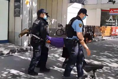 VIDEO: Policisti mirne protestnike v Ljubljani strpali v marico