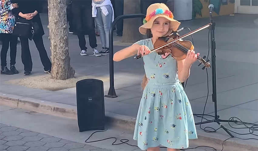Little Girl Grabs Violin On The Street Delivers Most Touching Shallow Cover Klipland Com