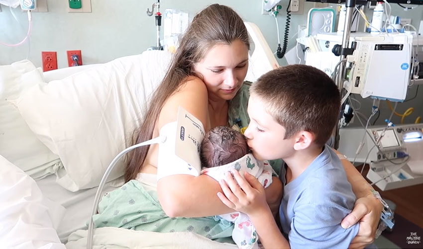 Brother Meets Newborn Sister For The First Time Whole Family Gets Emotional